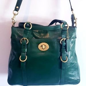 Coach F14022 Large Green Chelsea Satchel